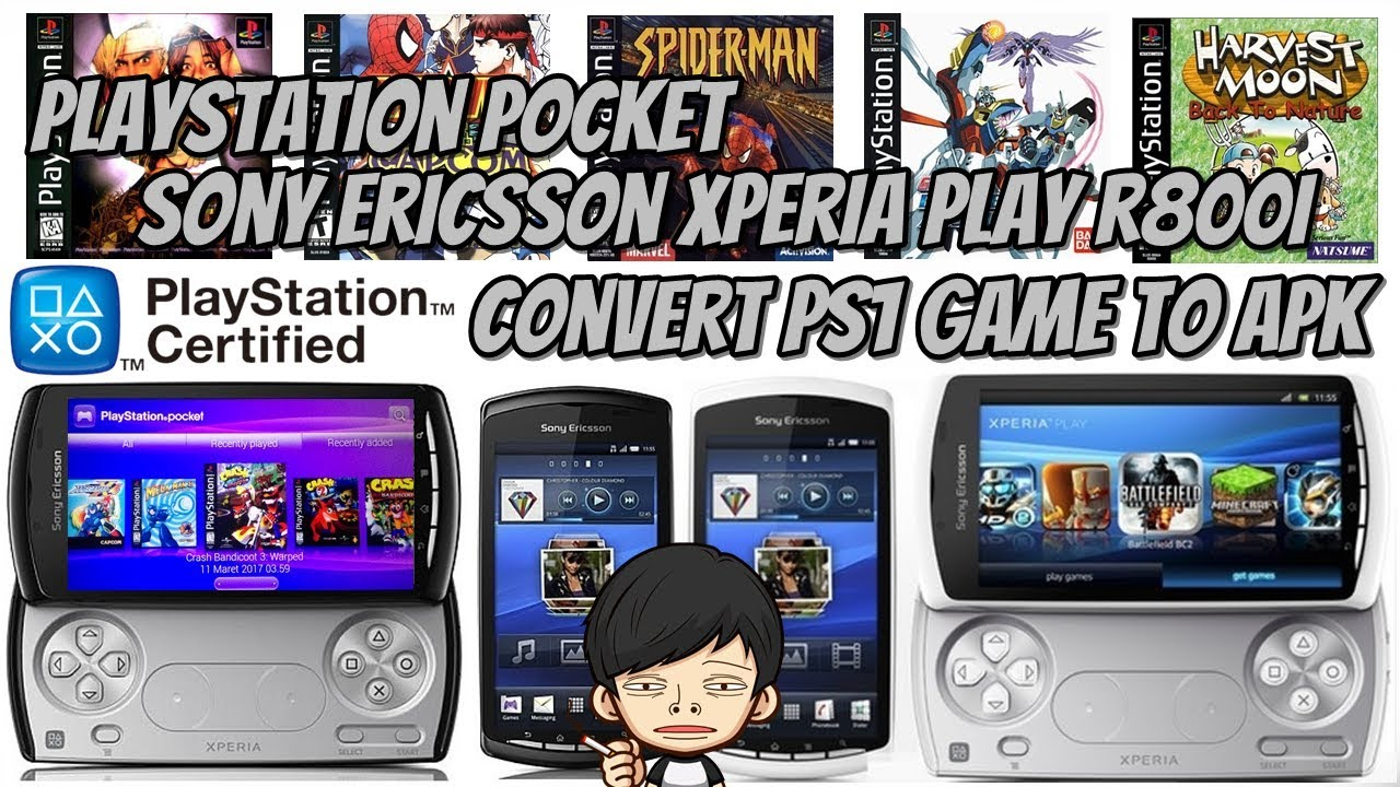 Cara Convert Game PS1 PS One Menjadi Game APK Playstation Pocket Sony Xperia Play R800i  #Smartphone #Android