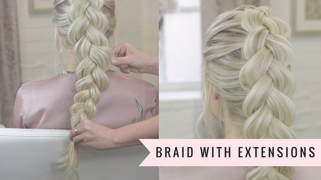 How To Braid With Clip In Hair Extensions Youtube