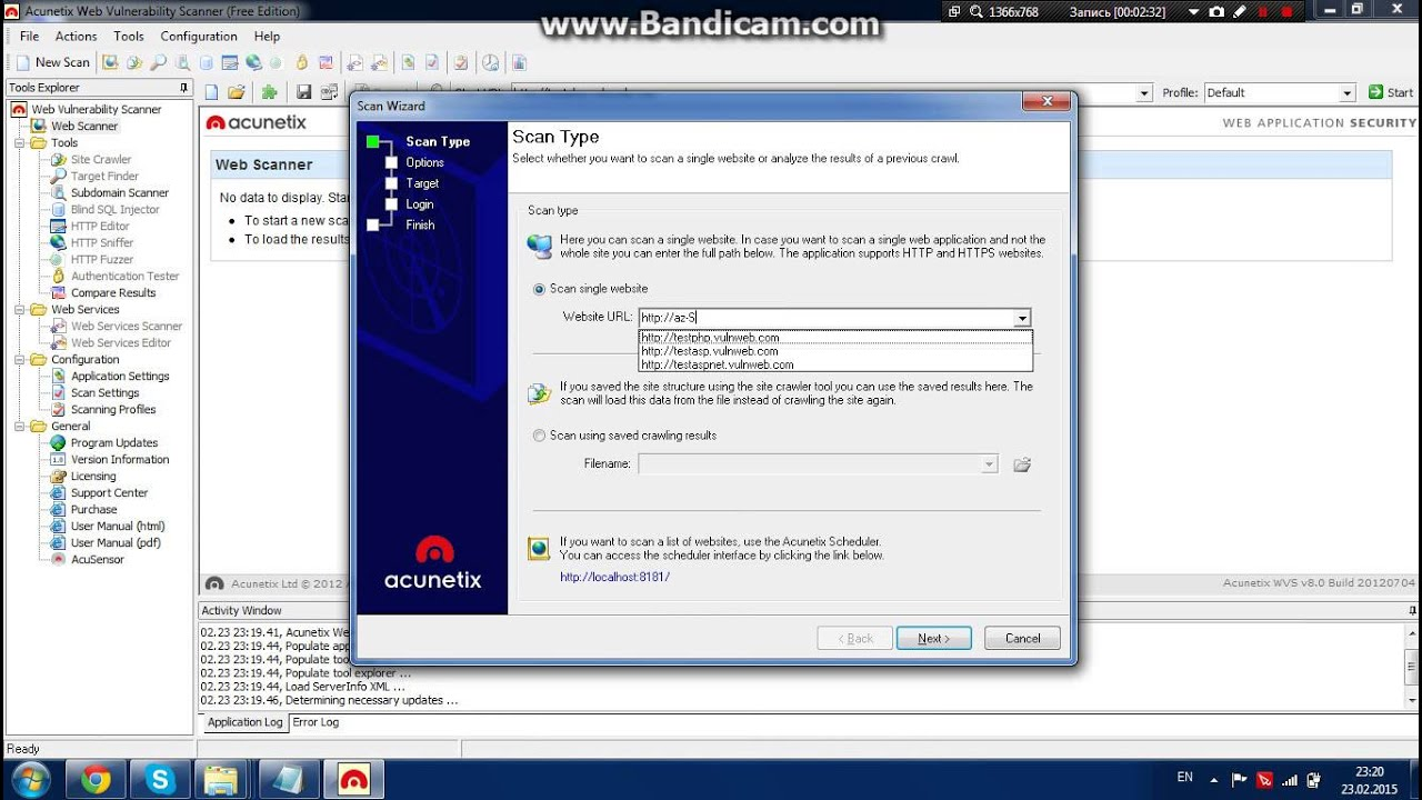Acunetix Web Vulnerability Scanner 8