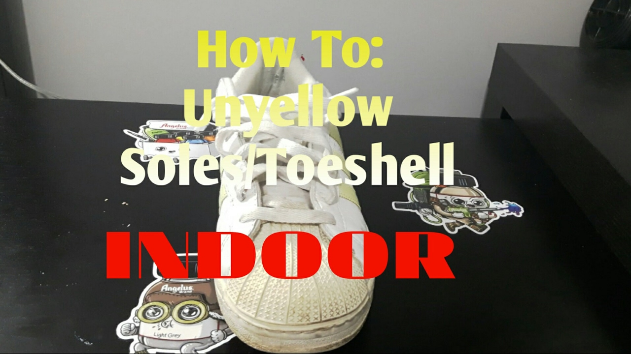 3ff182dccbadbb How to Unyellow Soles Toeshell Indoor - YouTube