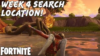 HOW TO FIND FORTNITE'S WEEK 4 CHALLENGE SECRET LOCATION! | Fortnite Tips