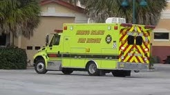 Marco Island FL Fire Rescue Squad Co. 50 Returning to Quarters