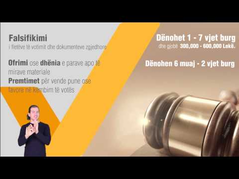 Voter Education TV spot - local elections Albania 2015