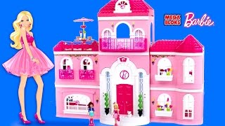 mega bloks barbie build n style luxury mansion with barbie dolls barbie life in the dreamhouse