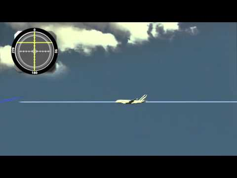 The final approach to an airport using ILS