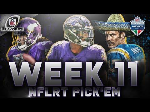 nfl-week-11-picks-&-playoff-predictions-|-2019-#nflrt-pick'em-challenge