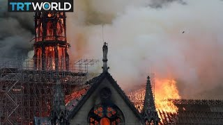 Large fire at Notre-Dame Cathedral in Paris.. As It Was Written It Will Be Done My People.
