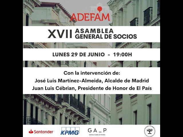 XVII Asamblea General de Socios de ADEFAM, 29 06 20