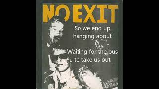 No Exit - Downtown Weekend (w lyrics) Vancouver, BC Punk Rock 1980
