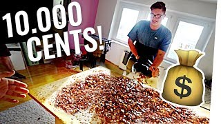 WTF! Er hat ÜBER 10.000 CENTSTÜCKE im Wohnzimmer AUSGELEERT! 💰😡