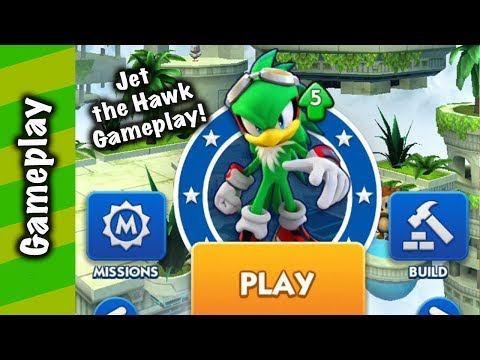 Sonic Dash - Jet The Hawk Extreme Gear Gameplay