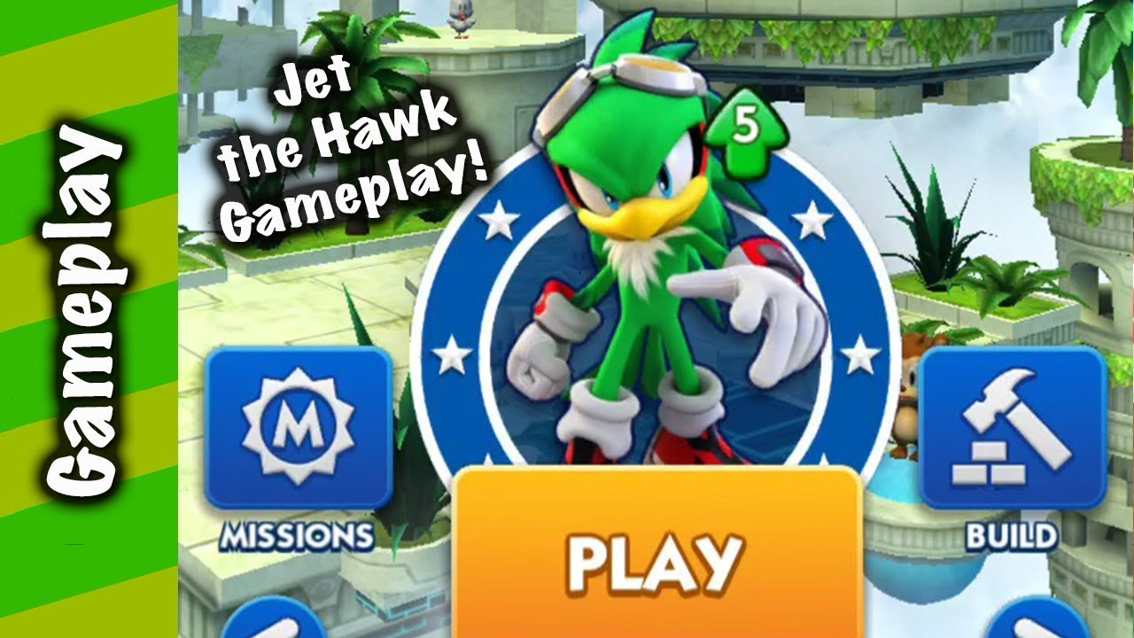 Sonic Dash Jet The Hawk Extreme Gear Gameplay Youtube