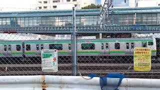 恵比寿ガーデンプレイス脇アメリカ橋付近:JR湘南新宿ライン&山手線