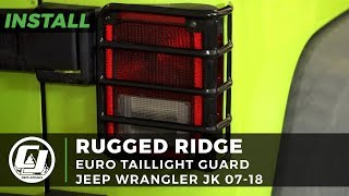 Jeep JK Wrangler Install: Rugged Ridge Black Euro Taillight Guards