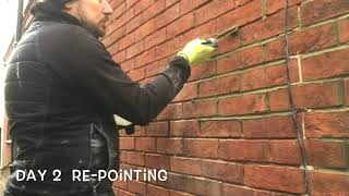 RE-POINTING OF BRICKWORK THE EASY WAY AND RIGHT WAY