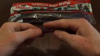 """12 x 5/"""" JELLY WORMS n 6 x HOOKS WORMS and HOOKS"""
