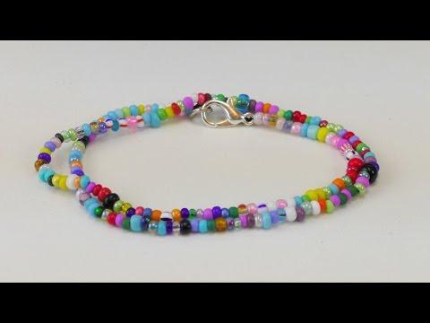 Perlenarmband Diy Pearl Bracelet Armband Aus Perlen Selber