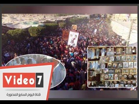 هنا -عيد مارجرجس- السنوى بالرزيقات أكبر تجمع للأقباط بالصعيد  - 19:22-2017 / 11 / 14