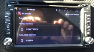 OBDII Bluetooth reader won't connect to 2 DIN Android Car Stereo