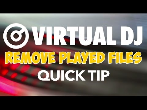 How to Remove Played Files From SideList and AutoMix - VirtualDJ 8 Quick Tip #16
