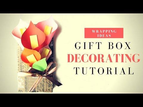 Каллы. Оформление подарка на 8 марта. Как сделать простые цветы каллы из бумаги. DIY своими руками!
