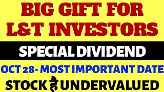 Special dividend by Larsen and toubro | Larsen & toubro dividend | L&T share news