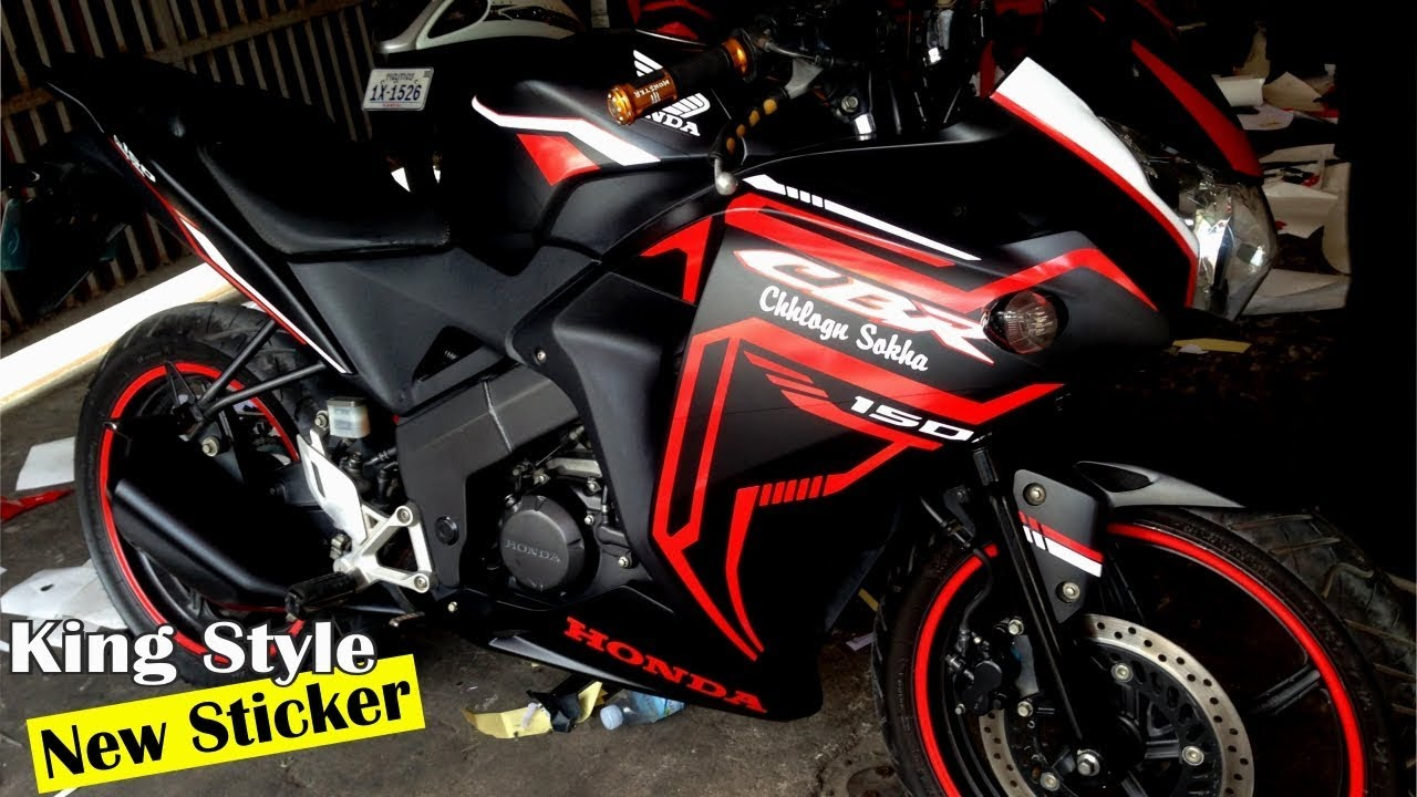 Honda cbr 150 best sticker carbon walkaround new design style by ks cambodia