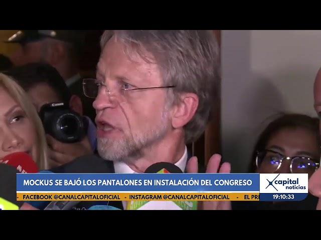 Antanas Mockus se bajó los pantalones en la instalación del Congreso