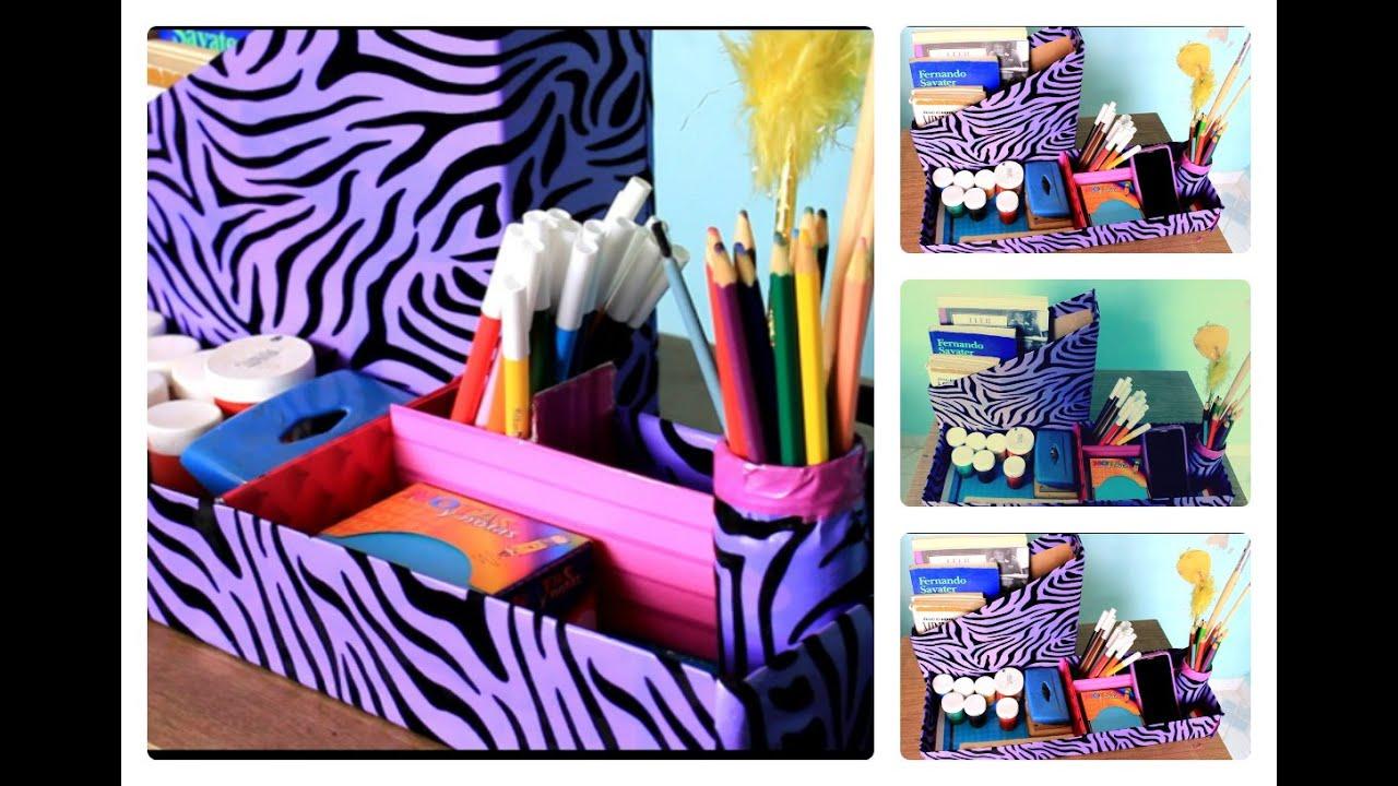 Como organizar tus tiles escolares  DIY Organizador de