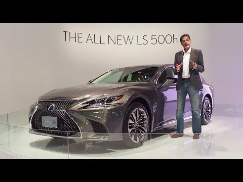 Lexus stand at the Dubai Motor Show 2017 featuring new LS