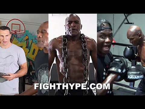 """(WOW) EVANDER HOLYFIELD JACKED TRAINING WITH KLITSCHKO & TARVER AT AGE 57; IN """"REAL DEAL"""" BEAST MODE"""