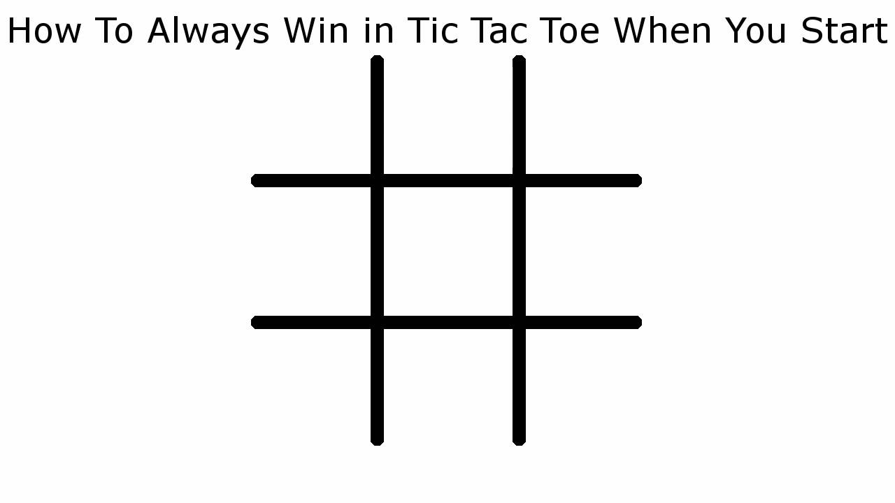 sc 1 st  YouTube & How To Never Lose in Tic Tac Toe When You Start - YouTube Aboutintivar.Com