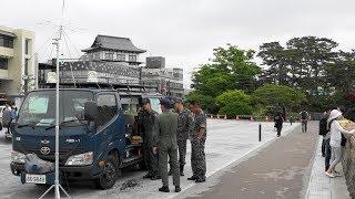 日本三景松島観光復興記念行事の予行は 低い雲のため、ほぼ地形完熟のよ...