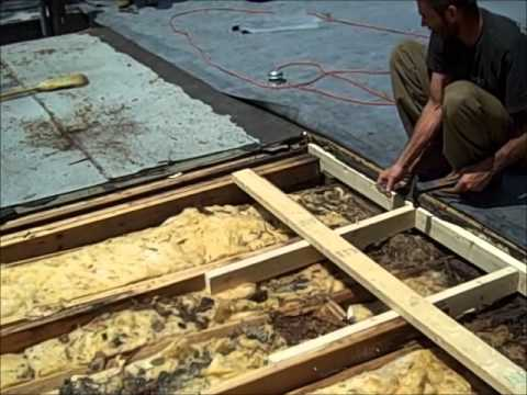 Epdm Rubber Roofing Over Mobile Home Roof Youtube