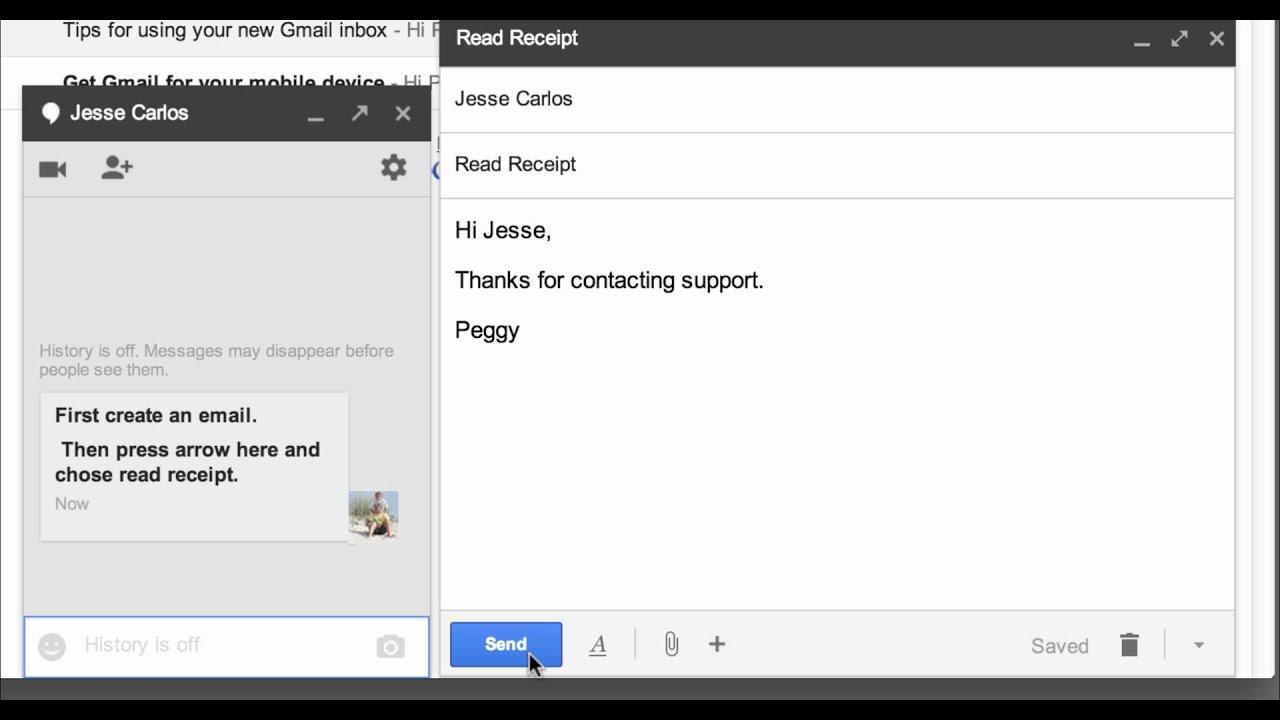 Gmail Read Receipts