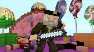 Minecraft | SIN PIEDAD!! | Minijuego SKYWARS TEAM