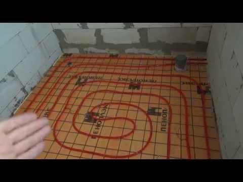 Теплый водяной пол в ванной комнате своими руками