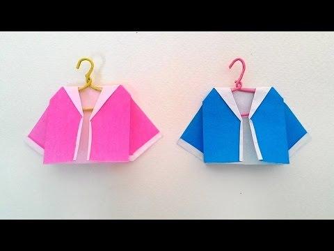 Origami Sailor shirt พับเสื้อปกกะลาสี แขวนได้