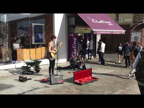Unknown incredible music band in Brighton, May 2017, the U.K.