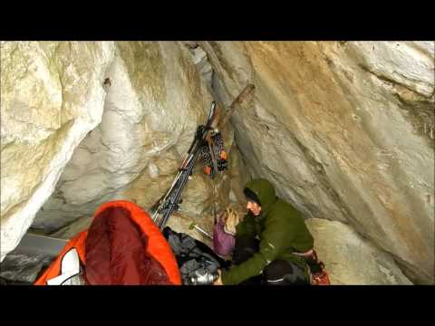Bushcraft Girl - UL solo all-terrain alpine ski tour with cave bivouac overnighter.