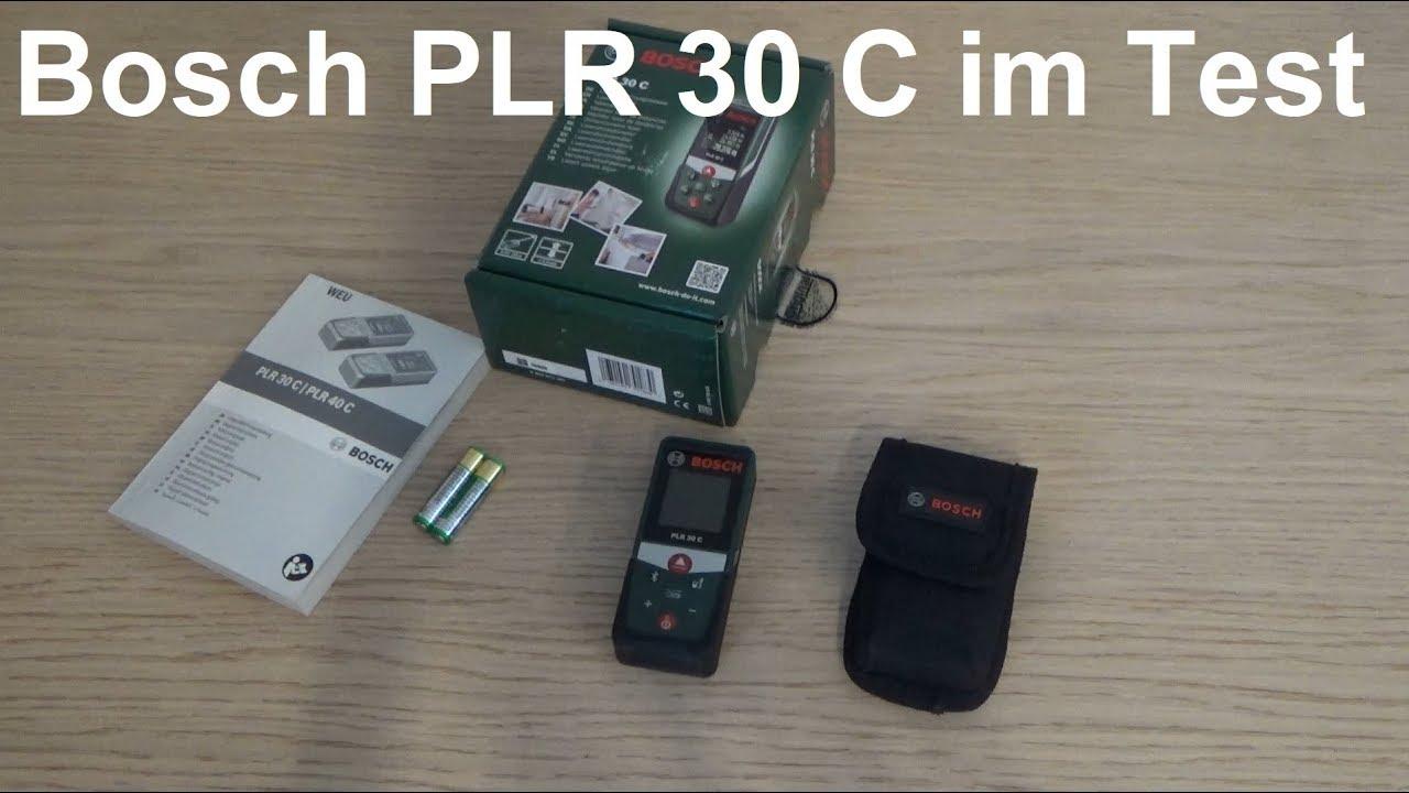 Bosch Entfernungsmesser Glm 50 C Test : Bosch laser entfernungsmesser plr 30 c im test youtube