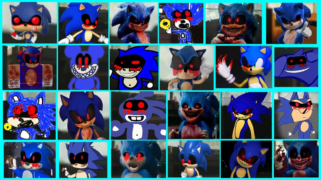 Sonic The Hedgehog Movie Sonic Exe Uh Meow All Designs Compilation Youtube
