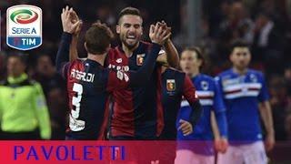 Il gol di Pavoletti (69') - Genoa-Sampdoria 2-3 - Giornata 18 - Serie A TIM 2015/16