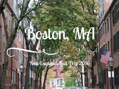 New England Fall 2016 | BOSTON, MA ♡ Travel with Steffi