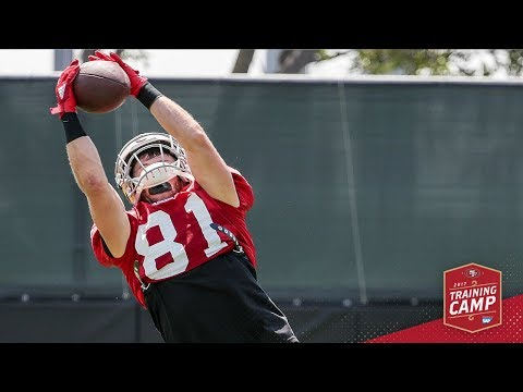 Camp Highlight: Trent Taylor's Toe-tap Touchdown