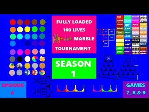 Download Fully Loaded 100 Lives Algodoo Marble Tournament Season 1 - Episode 4