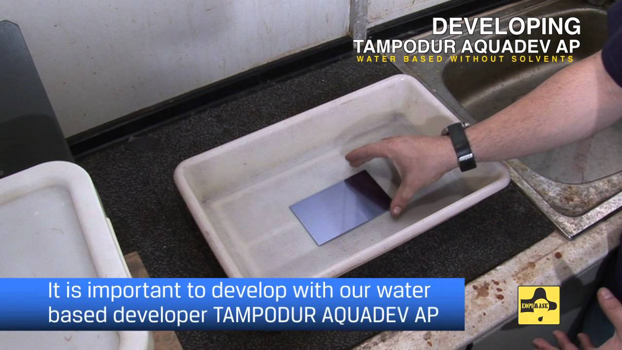 Pad printing steel plate Tampodur AP water based without solvents