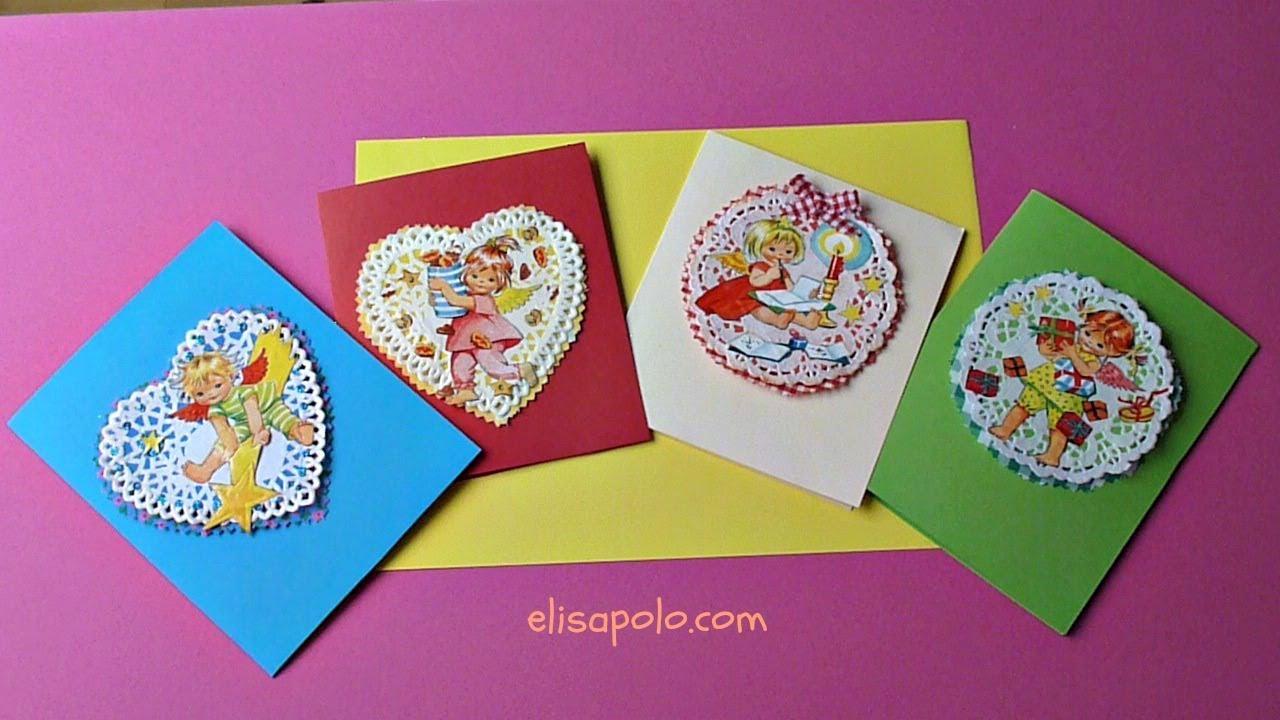 Diy c mo hacer tarjetas de navidad vintage vintage - Como realizar tarjetas navidenas ...