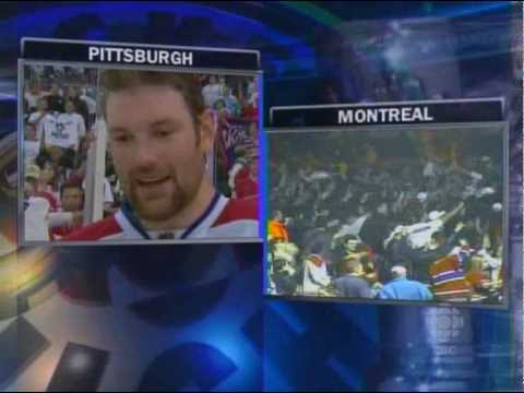 Montreal Canadiens Eliminates Pittsburgh Penguins (Post-Game Celebration)
