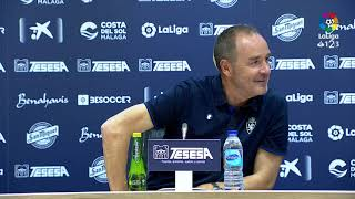 Rueda de prensa de Víctor Fernández tras el Málaga CF vs Real Zaragoza (3-1)